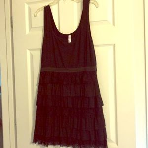 Adorable Black tiered dress